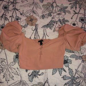 Forever 21 Cropped Blouse with Ring in the center